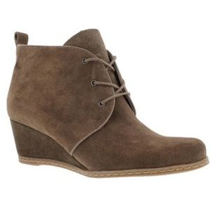 Franco Sarto Lace Up Wedge Bootie